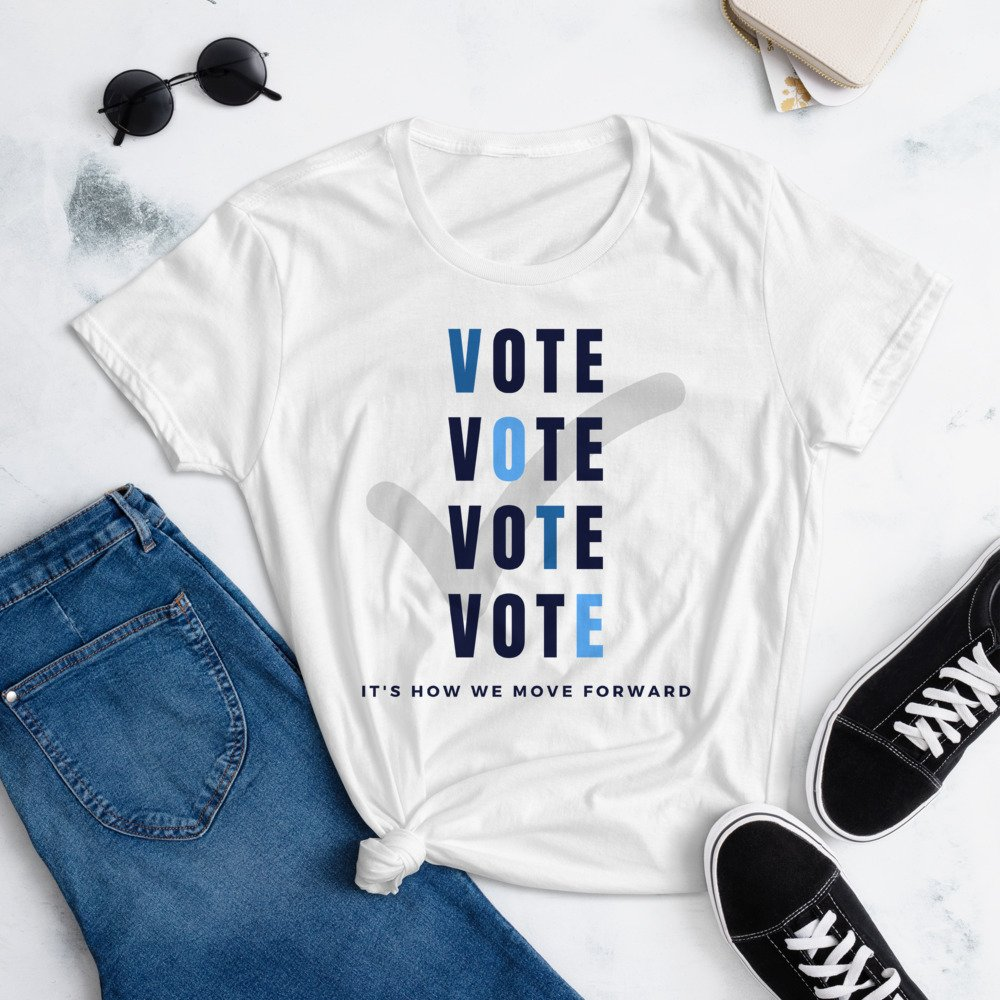Vote to bring change shirt white