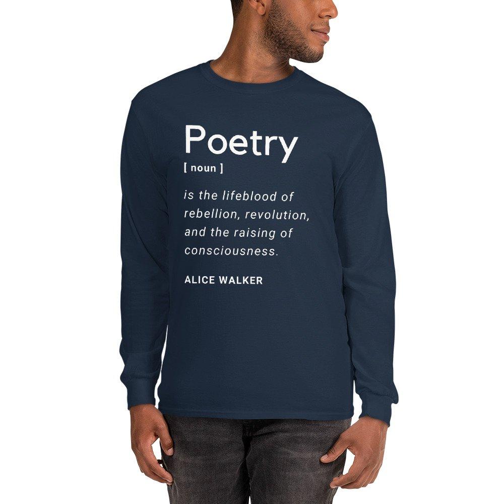Poetry Men's Long Sleeve Shirt