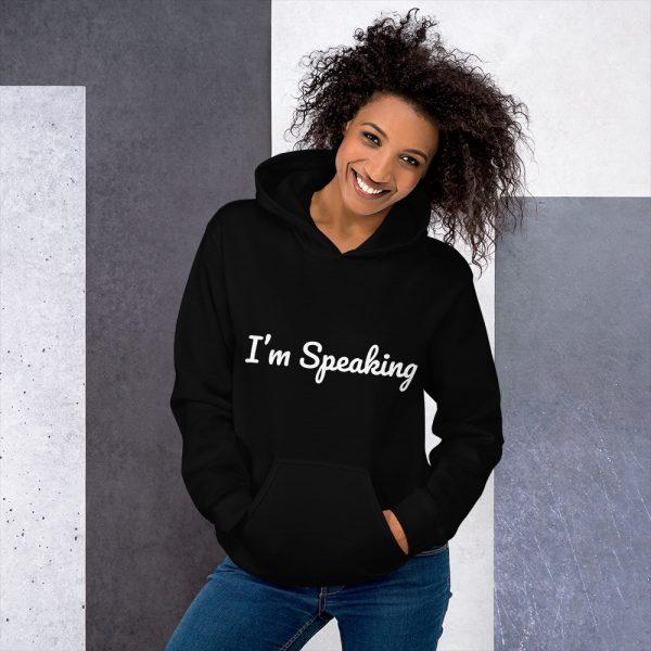 Adult hoodie, I'm speaking, Kamala Harris