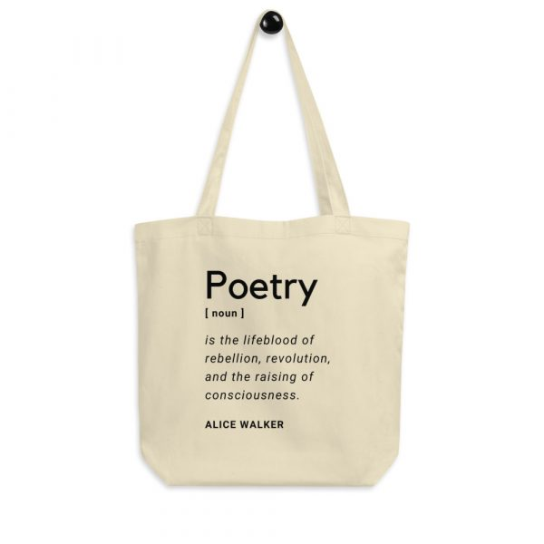 Eco Tote bag, oyster, quote by Alice Walker