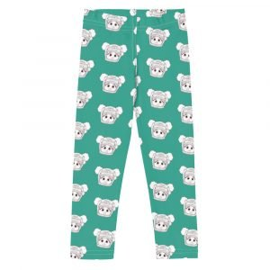 teal girls leggings, black astronaut with afro puffs