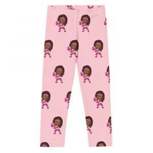 Pink girls leggings, black volleyball player